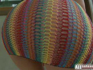 All Internal Bubble butt teen gets big anal creampie