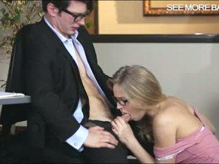 Office girl Staci in glasses creampied