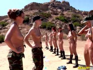 Breanne benson và cô ấy 10 gfs trong đồng tính nữ quân đội