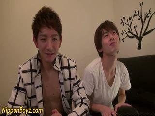Gay asian twink jizzes