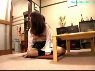 студент, молодий, японський, дівчина