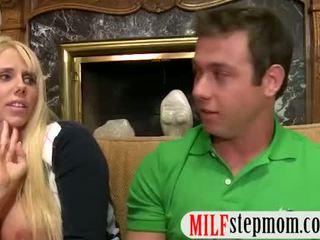 Mature Karen Fisher and teen cutie Molly Bennett threesome
