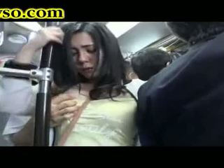 Milf being fucked on bus