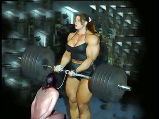 Female olah rogo ngencengke otot fbb bodybuilder gunging éndah wadon setri