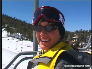 Taylor Rain Relaxes After Some Skiing
