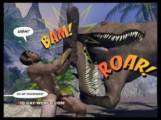 Cretaceous polla 3d gay cómico sci-fi sexo historia