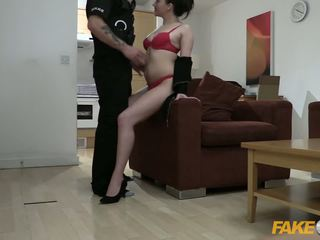 Fake Cop Office slut fucked by policeman