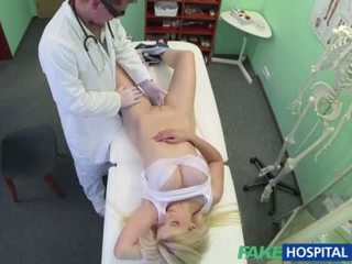 Busty blonde gets fucked by her doctor
