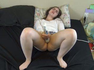 giovane, guarda vibratore guarda, qualità orgasmo più