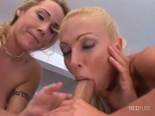 Sexy blonde threesome with Michael Stefano