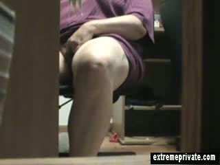 bbw, voyeur, finger, masturbation