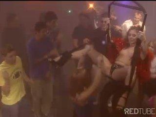 Chloe gangbang fuck at party on the sling