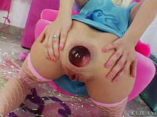 gaping, anal masturbation, ass toy