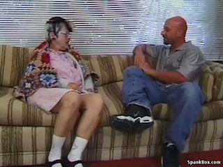 Granny gets reamed poolt noor mees