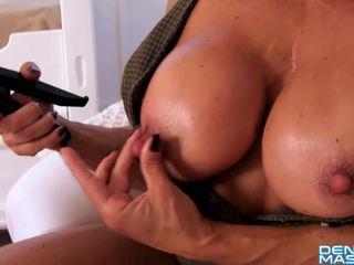 Denise Masino - Office Nipple Pump Video - Female Bodybuilder