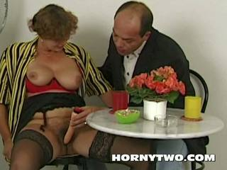 Hairy Chubby Stepmom Taking Cock in Mouth too Hot Tehn