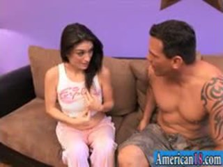 Small Tits Brunette Teen Tabatha Tucker Pounded By Big Cock