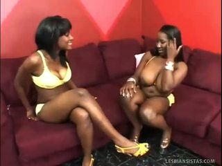 Big Boobed Black Babe Fucked By A Chick