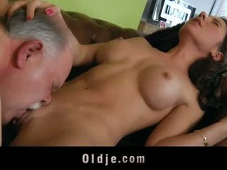 ישן butler משרת סקס ל שלו spoiled גברת בוס