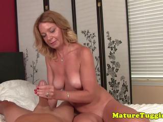 Bikini MILF Tugging Cock While Rubbing Pussy: Free Porn 69