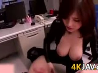 Busty Japanese Slut At The Office