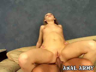 Gorgeous Army Slut Tina Fine Rubbing Asshole While Giving Felatio