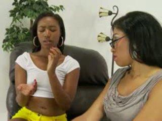 blowjob, black and ebony, interracial, small tits