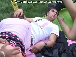 Alluring Youngsters Cocksuck And Shag In Sensuous Outdoor Team Porno
