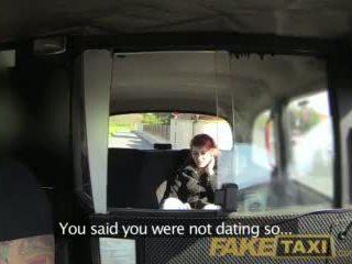 Faketaxi innocent teen takes big fat cock
