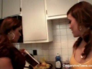 Latina Teen Fucks Latina Milf