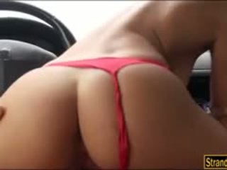 Booby amatur hitchhiker nikita bellucci pounded dalam yang cab