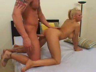 Trampy babe Chloe Dior on her knees getting drilled deeply in pussy