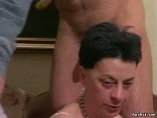 Abuelita orgía porno