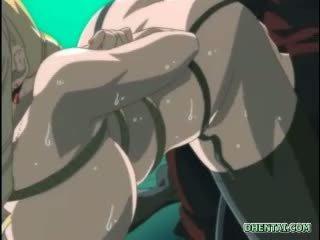 Träldomen hentai med stor klantskallar gets an lavemang insprutning