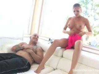 Samantha saint gets creampied