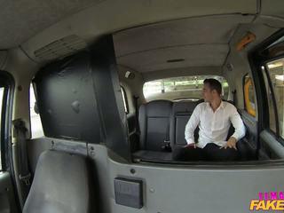 FemaleFakeTaxi Tourist introduced to taxi