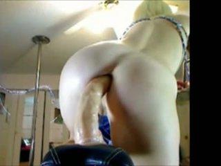 Jenn is riding her dildo bike anal on Cam - WatchOurCam.com