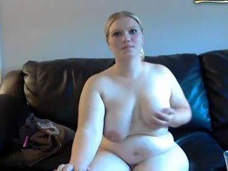 Breda hustru gets spanked och masturbates på webkamera