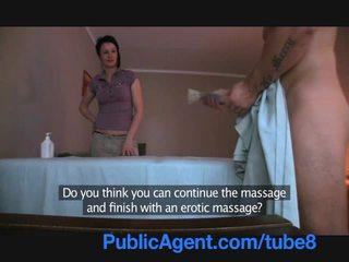 Publicagent futand the masseur milf