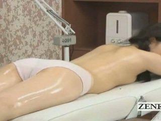 Subtitled japońskie uczennica pierwszy czuły olej masaż