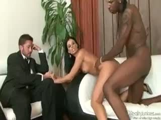 Husband Walks In On Wife Cuckolding With Large Black Man