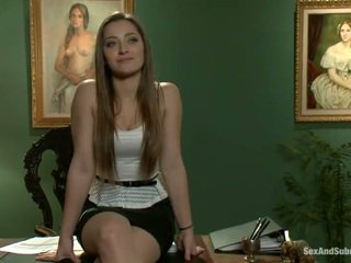 Superb Dani Daniels Has Constrained Up And Banged Onto A Table