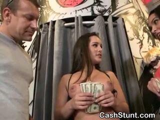 Brunette Amateur Sucking Dick For Cash During Money Talks Stunt
