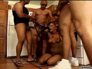 Venus busty whore munching on hard cocks