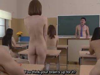 Subtitled uncensored japoneze nudist shkollë pop quiz