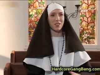 si rambut coklat, kumpulan seks, blowjob