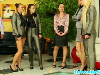 Classy europeisk damer fighting til kuk