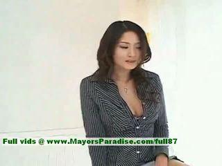 Risa innocent 中国の 女の子 gives a かわいい フェラチオ へ 彼女の guy