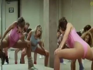 Sexy Girls Doing Aerobics Exercises In...