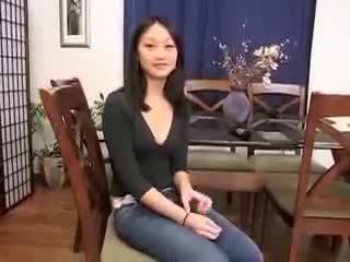 Trung quốc cô gái evelyn lin đầu tiên thời gian hậu môn